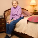 Elderly Woman on bed